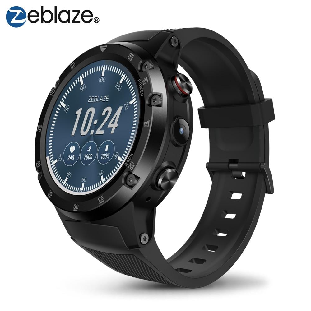 Zeblaze THOR 4 Plus Phare 4G LTE téléphone montre intelligente Android 7.1 MTK6739 QuadCore 1 GB + 16 GB 5.0MP 580 mAh GPS Smat montre pour homme Femmes