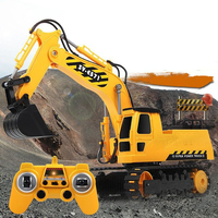 Newest Boy Gift RC Excavator Model 2.4G Remote Control Constructing Truck Crawler Digger Model Electronic Engineering Truck Toy