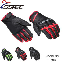 SSPEC Men Vintage Motorcycle Gloves Real Leather Glove Men Cycling Racing Guantes Moto Motorbike Motocicleta Luvas
