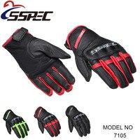 SSPEC Men Vintage Motorcycle Gloves Real Leather Glove Men Cycling Racing Guantes Moto Motorbike Motocicleta Luvas