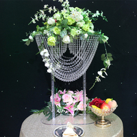 80cm Tall Crystal Flower Stand Table Centerpiece Wedding Decoration