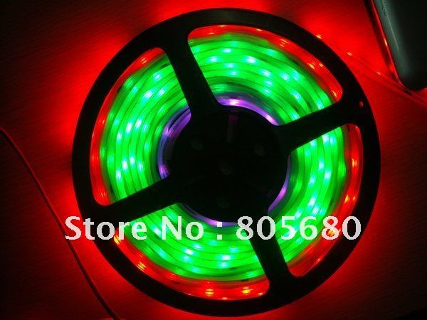RGB LED strip Dream color HL1606 IC SPI 94 effects Magic led strip Light+controller 5m dc12v 5050smd 150leds ldp6803 ic magic dream color ip66 silicone waterproof flex led strip 133 programs rf remote controller