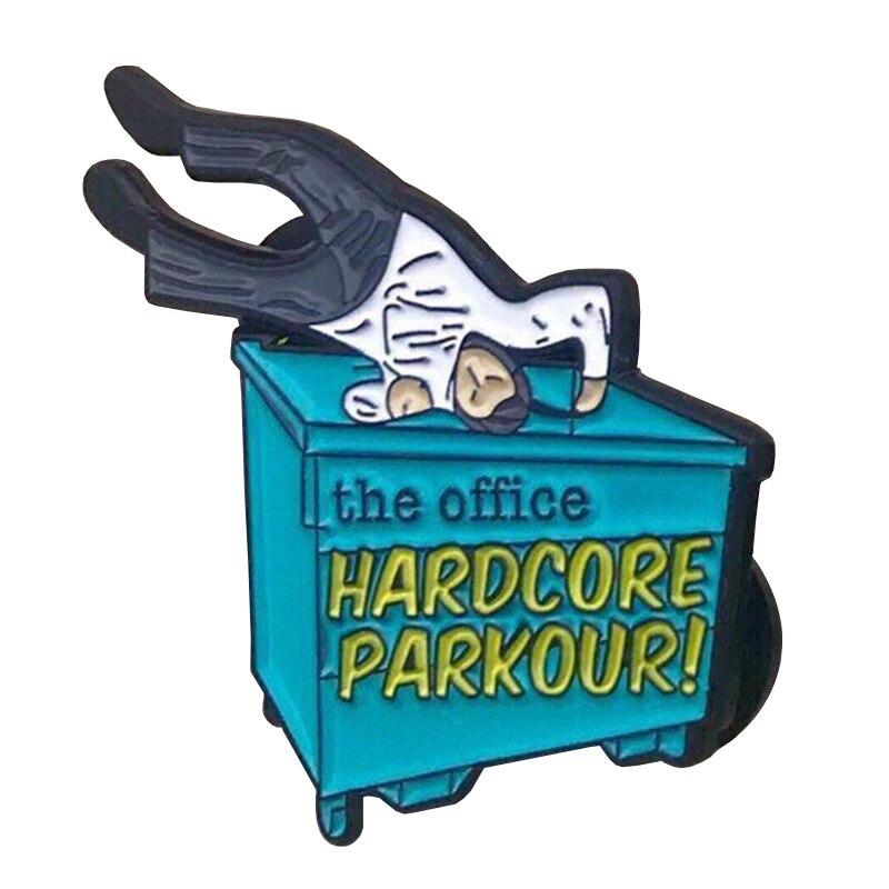 Hardcore Parkour Enamel Pin