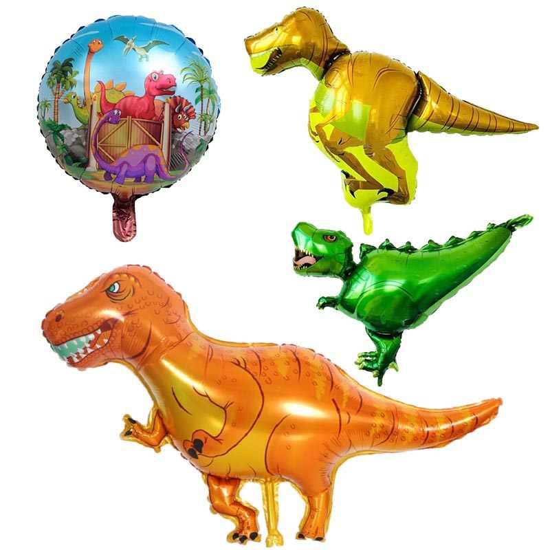 1 pc Dinossauro Dos Desenhos Animados Balão Da Folha Andar Balões Animais Balão de Ar Inflável para Crianças Festa de Aniversário Do Chuveiro de Bebê Decoração