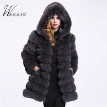 Elegant Faux Fox Fur Coat  Luxury Fashion
