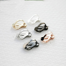 20pcs/lot Rose Gold Silver Color NO Piercing Earrings Clips 12mm Copper Blank Base Settings Craft for DIY Ear Jewelry Making