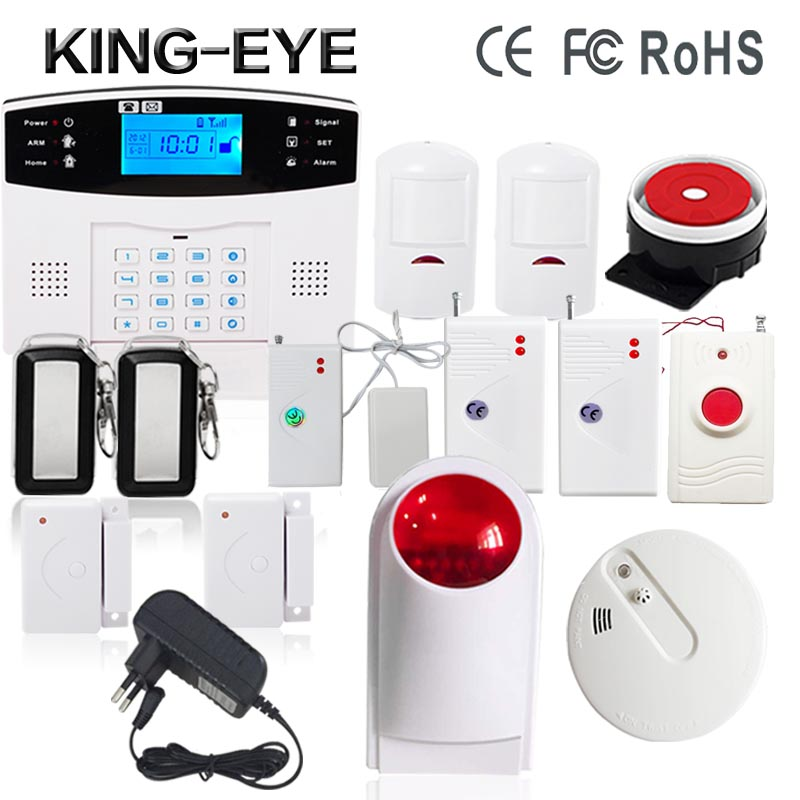 433 MHz LCD display home alarm system wireless gsm smoke detector indoor wireless strobe siren alarm systems for home security golden security lpg detector wireless digital led display combustible gas detector for home alarm system