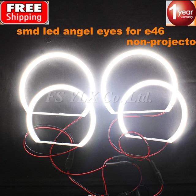 FSYLX 2x131mm + 2x146mm SMD LED los ojos del ángel para BMW E46 no ... 4046666e4930