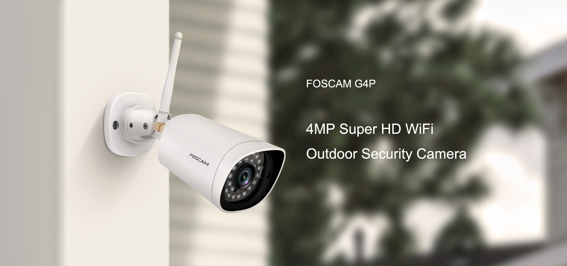 Foscam G4P Super HD 4MP(2K) WiFi Waterproof Security Camera with Human  Motion Detection 66 ft Night Vision Bullet IP Camera