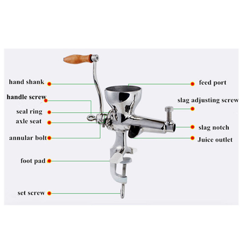 Купить с кэшбэком Wheatgrass juicer auger slow squeezer fruits wheat grass vegetable orange juice extractor machine