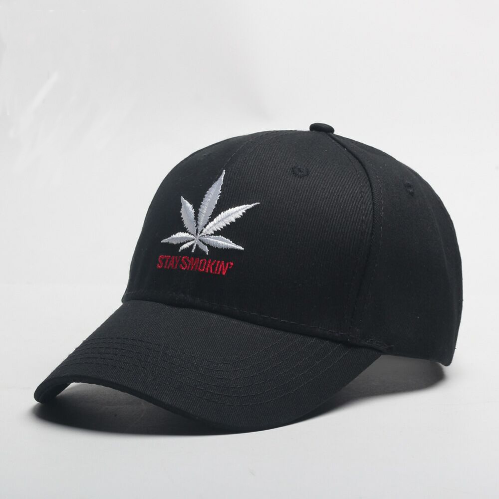 2018 New Fashion Embroidery Maple Leaf White Cap Weed Snapback Hats For Men  Women Cotton Swag Hip Hop Fitted Baseball Caps 023b4dd1c94d