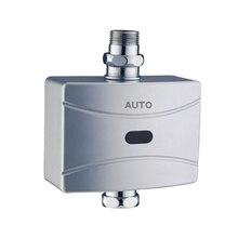 X7780-роскошный Настенный хром цвет ABS Материал DC 6 V Автоматический туалет стул клапан промывки