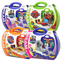 Children Portable Kitchen Cooking Toy Box Play set for Kids and parents Pet Store/BBQ/Pizza