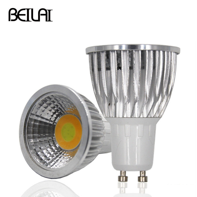 BEILAI 3 Color COB GU10 Lampada LED Lamp 220V 110V 3W 7W Bombillas LED Spotlight Lamparas LED Bulbs Light Temperature Christmas