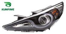 Пара фар автомобиля в сборе для Hyundai Sonata 2011 тюнинг лампы с глаза ангела Биксеноновые проекта объективом Дневной Бег свет