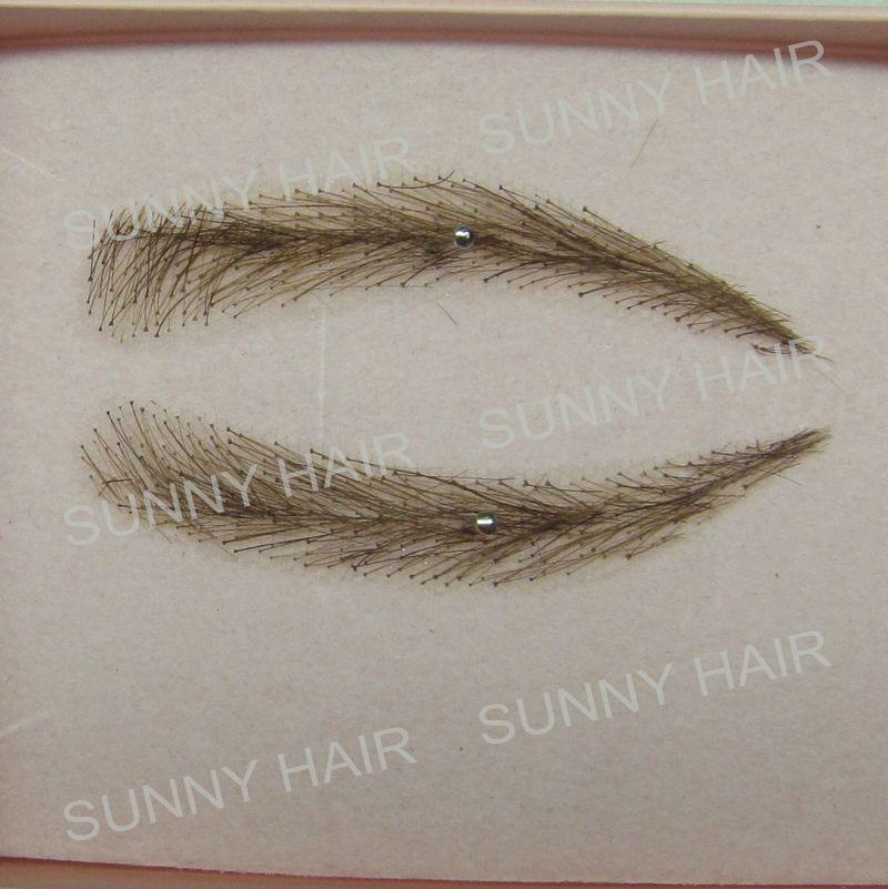 0113 hand made human hairr hand knot fake eyebrow dark brown #2 colour зонт other 0113