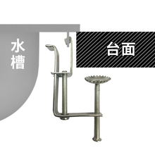 Stainless Steel Trough Table Top Basin Fixed Hook Tension Single Double Universal