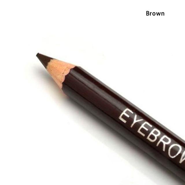 1 Pcs Leopard Women Eyebrow Pencil Waterproof Black Eye Brown Pencil With Brush Make Up Eyeliner Eye Liner Makeup Tools 3