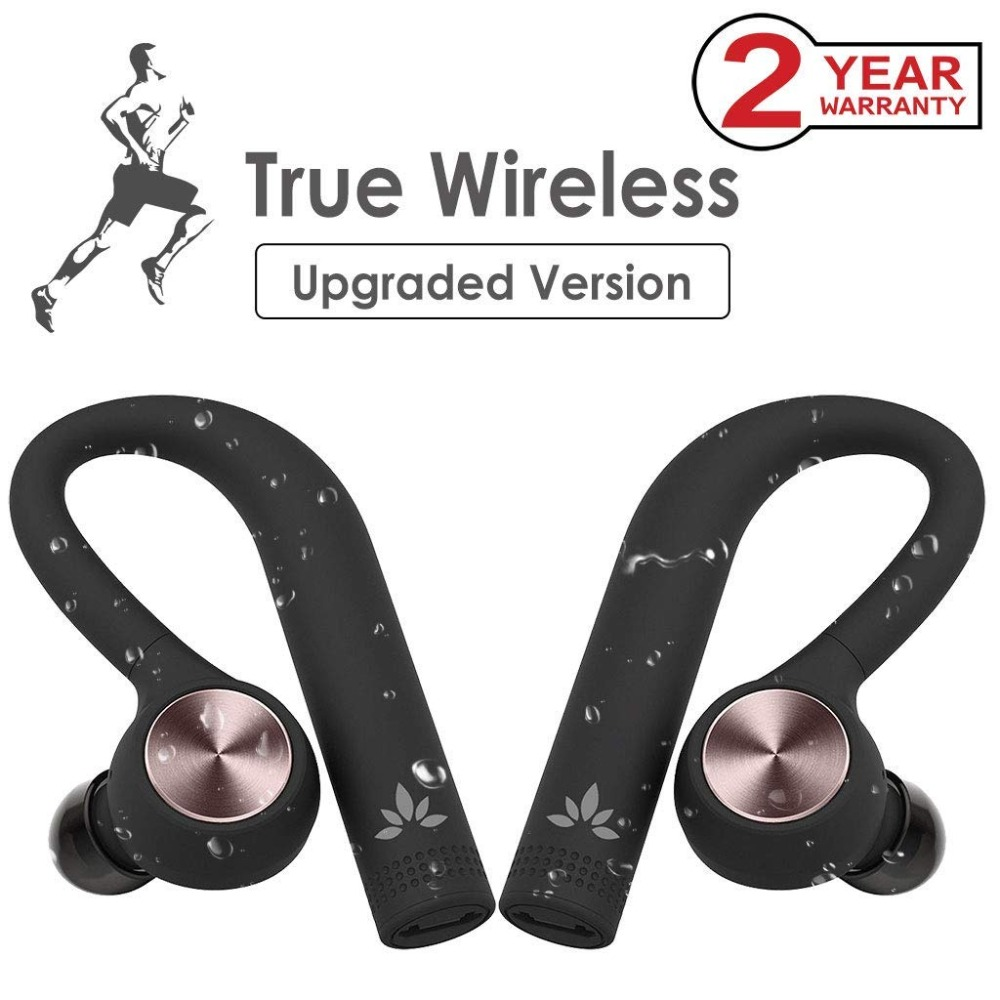 17903da612b Avantree IPX5 Sweatproof TWS Wireless Earbuds, True Wireless Stereo  Bluetooth 4.2 headphones Cordless Earphones with