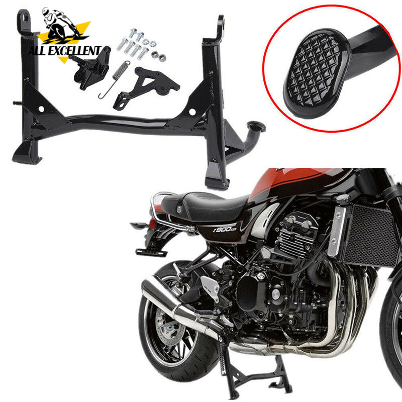 For 2018 <font><b>Kawasaki</b></font> <font><b>Z900RS</b></font> <font><b>Z900</b></font> <font><b>RS</b></font> Z 900RS Cafe Black Center Foot Support Stand Bracket Mount Side Lining Centerstand image