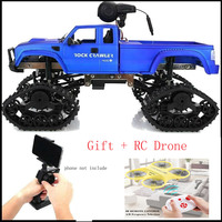 4WD Electric RC Crawler Truck 2.4GHz 1/16 Scale RC Truck 480P HD Camera High Speed Monster Truck Road Buggy 20 25Mins