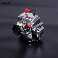 FVITEU 30.5cc 4 BOLT Chrome Engine with Walbro carb. and NGK Spark plug for 1/5 ROVAN baja 5b 5t losi Rovan LT and Truck