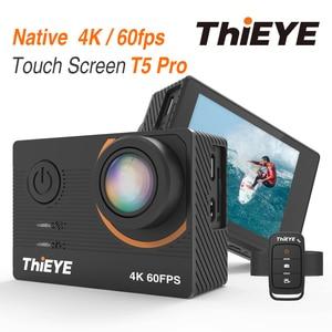 Cámara de Acción ThiEYE T5 Pro, WiFi, Ultra HD 4K 60fps, pantalla táctil, Control rápido, cámara de acción IP68 impermeable