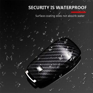 Image 5 - 탄소 섬유 + 메르세데스 벤츠 2017 E 클래스 W213 2018 S 클래스 액세서리에 대 한 PC 자동차 키 커버 케이스 셸 가방 보호 키 링