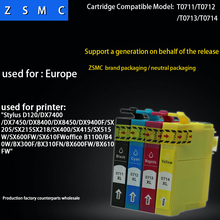 4PCS Compatible EPSON T0711 T0715 ink cartridge suitable D78/D92/DX7000F/DX5000/DX4050/4000 printer