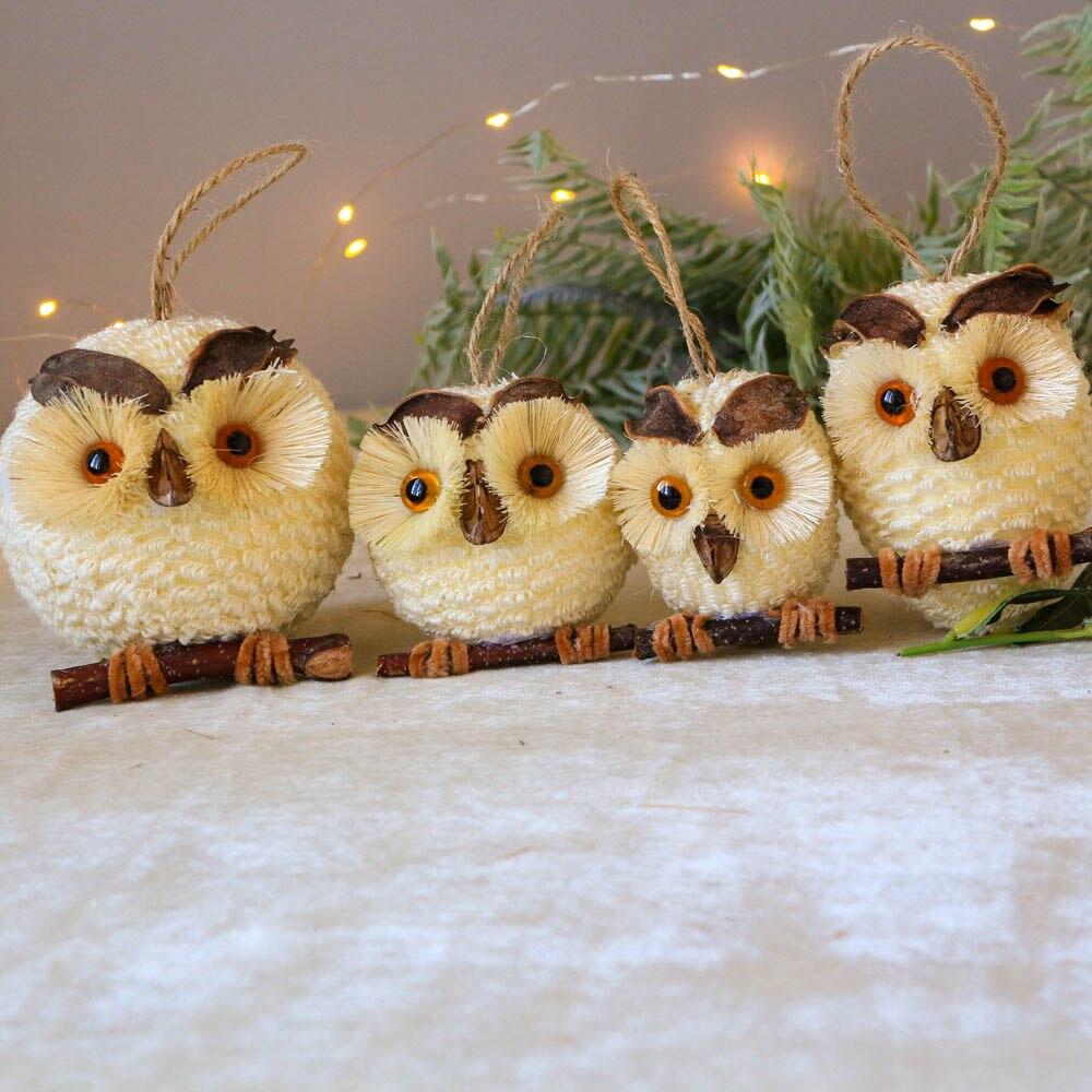 Decoración del Hogar colgante búho Natural personal artesanal decoración de la habitación de los niños decoraciones para boda búho bonito pájaros Hogar decoraciones Nórdicas