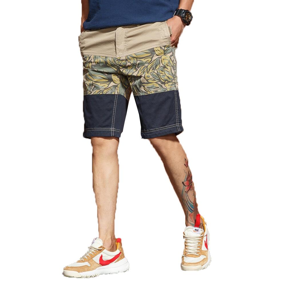 2018 Mens Casual print Shorts Cargo Short Pants Military Trousers Man Loose Shorts Bermuda student Summer Beach Shorts 28-38