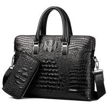 Men Handbag PU Leather Men's Bag Brand Briefcase Large Capacity Shoulder Bag Cro
