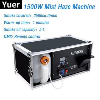 цена на 1500W Mist Haze Machine 5L Fog Machine DMX512/Remote Control Smoke Machine Dj / Bar/ Party Stage Light LED Stage Fogger Machine