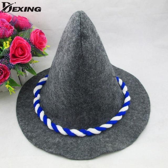 8736047b81826 Winter Steeple Magic bucket hat halloween headband witch hat women Party  Props Harry Potters men modern Soccer fan witch hat