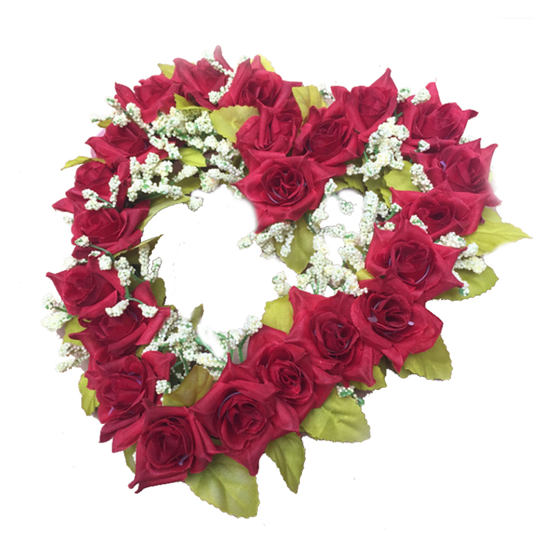 coeur couronne de fleurs-achetez des lots à petit prix coeur