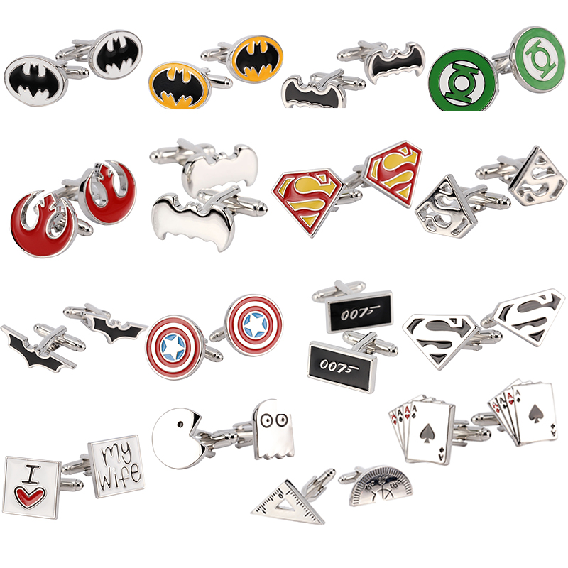 Free Shipping 16 Mix Hotsale Designs Cufflinks Wholesale MOQ 1pair Sport Movie Animal Car Tool Casino Designs Option Cuff Links image