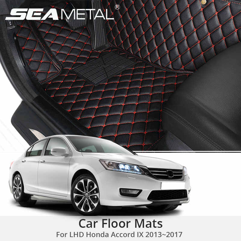 For LHD Honda Accord IX 2017 2016 2015 2014 2013 Car Floor Mats Custom Rugs Carpets Auto Interior Pads Accessories Car-styling