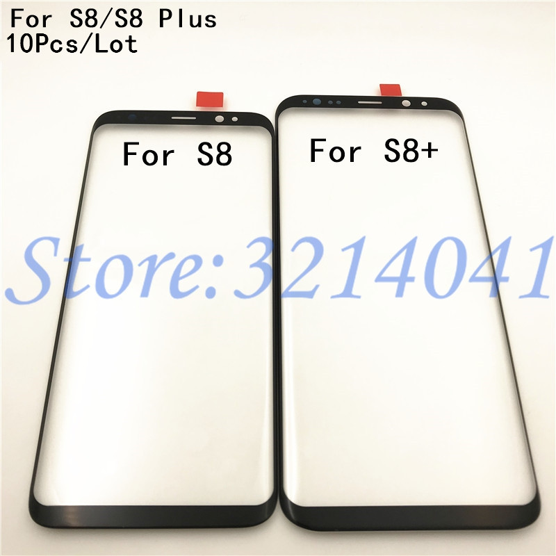 10Pcs/Lot Original Touch Screen For <font><b>Samsung</b></font> <font><b>Galaxy</b></font> <font><b>S8</b></font> <font><b>S8</b></font> Plus G950 G950F G955 Front Outer <font><b>Glass</b></font> Lens <font><b>Replacement</b></font> Parts image