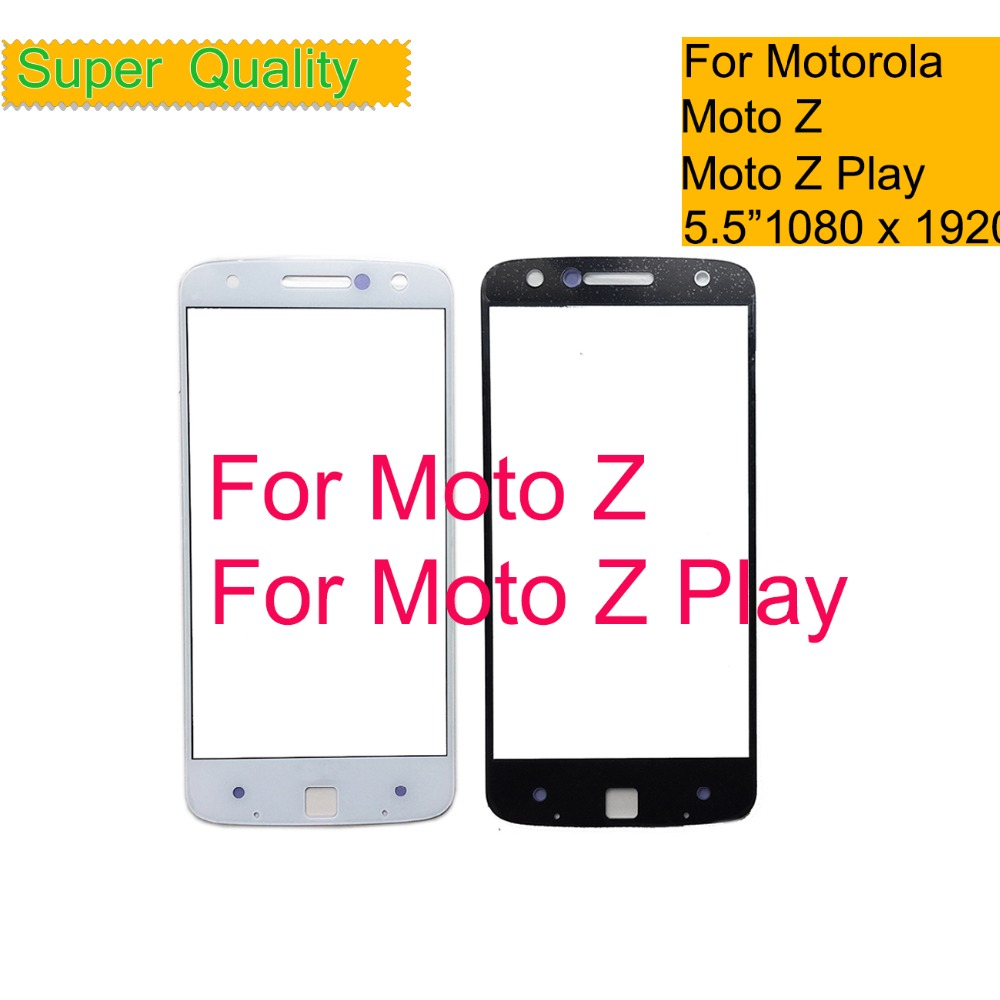 10Pcs/lot For Motorola Moto Z Droid XT1650 / Z Play Droid <font><b>XT1635</b></font> Touch <font><b>Screen</b></font> Front Outer Glass Panel Lens NO LCD Digitizer image