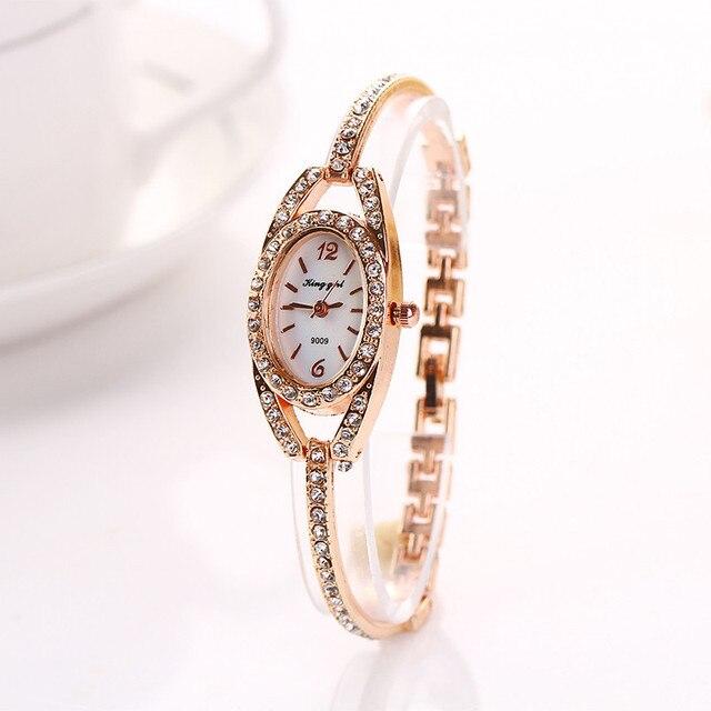 Women Fashion luxury Watches Full Crystal Rhinestone Bracelet Watch Women Dress