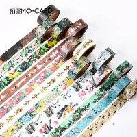 7m*15mm DIY Vintage Retro Decorative Masking Washi Tape Flower Adhesive Tape For Decoration Diary Free Shipping 3629