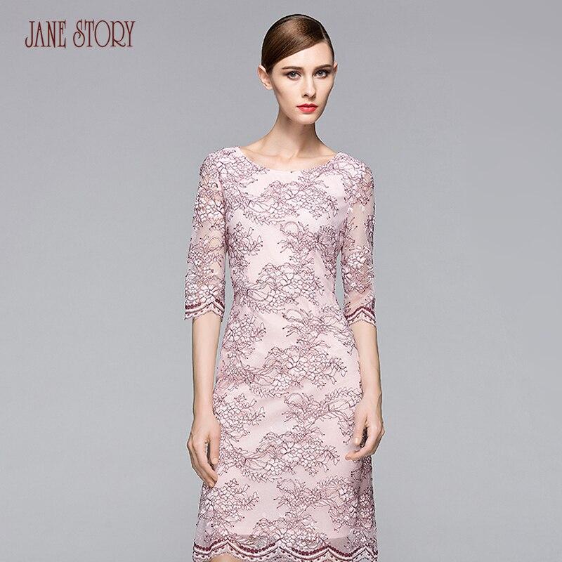 Jane Story women's elegant dresses three quarter sleeve