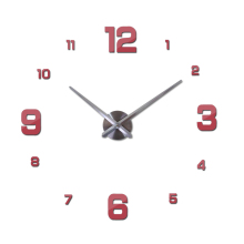 Modern Acrylic Mirror Quartz Wall Clock for Home Decor