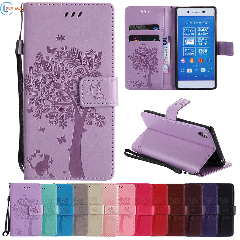 Coque For Sony Xperia Z4 Dual Ivy E6553 E65333 TPU Wallet Flip Phone Leather Case Cover For Sony Xperia Z 4 E 6553 6533 Capa Box