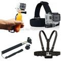 Gopro Monopod Tripod Mount Adapter + Float Bobber Handheld Stick + Chest Belt + Head Strap For all Gopro Hero 5 4+ 3 2 1 SJ4000