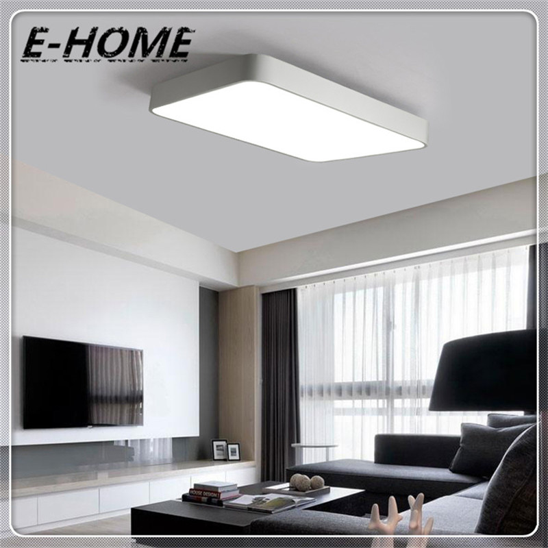 Modern minimalist LED ceiling living room Creative Arts rectangular square master bedroom balcony lights lamp