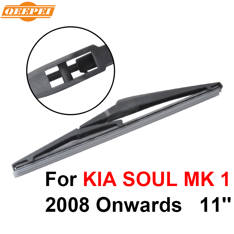 Gentle Qeepei Rear Windscreen Wiper No Arm For Kia Soul Mk 1 2008-2016 11 5 Door Hatchback High Quality Iso9000 Natural Rubber A1-28 Auto Replacement Parts