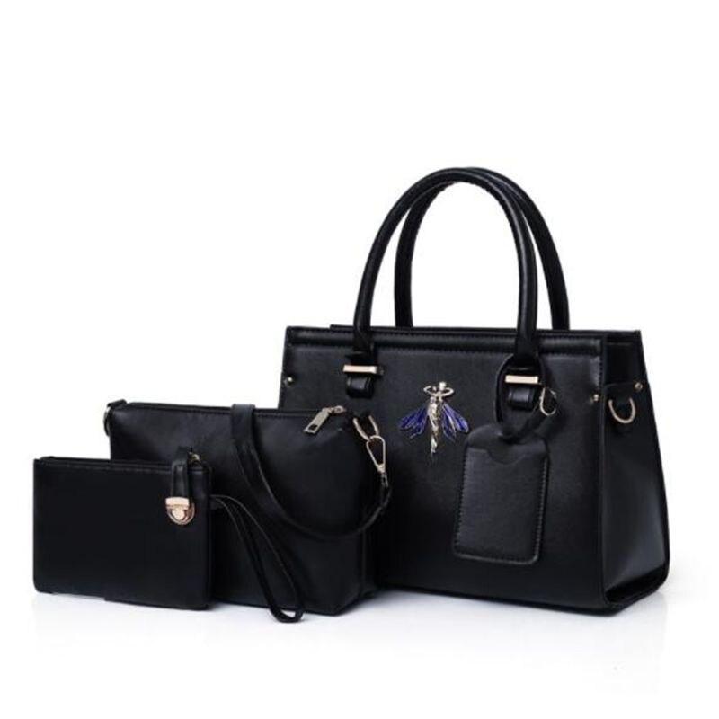 84bf750a0d4e 2019 3 шт. роскошные кожаные сумки женские сумки дизайнерские брендовые  знаменитые сумки через плечо сумка