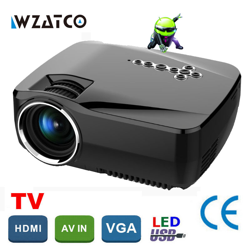 GP70up Android 4.4 WiFi Bluetooth Smart hd beamer Portable Mini LED LCD projector home theater Proyector Projetor