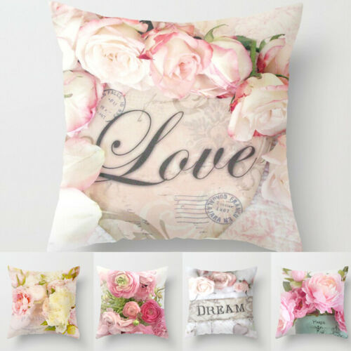 Floral Printed Pillow Cover 45x45cm Room Rose Floral For Home Goods 1PC Flower Pillowcase Polyester Bedroom Pillow Cover